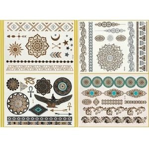 Accessories - Flash Temporary Metallic Tattoos Gold and Silver